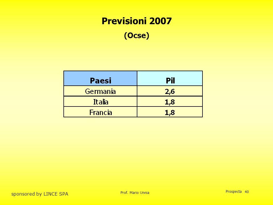 Previsioni 2007 (Ocse)