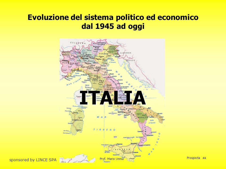 Evoluzione del sistema politico ed economico dal 1945 ad oggi