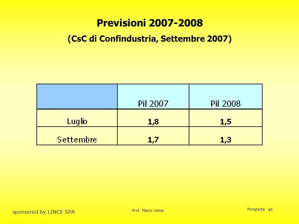 (CsC di Confindustria, Settembre 2007)