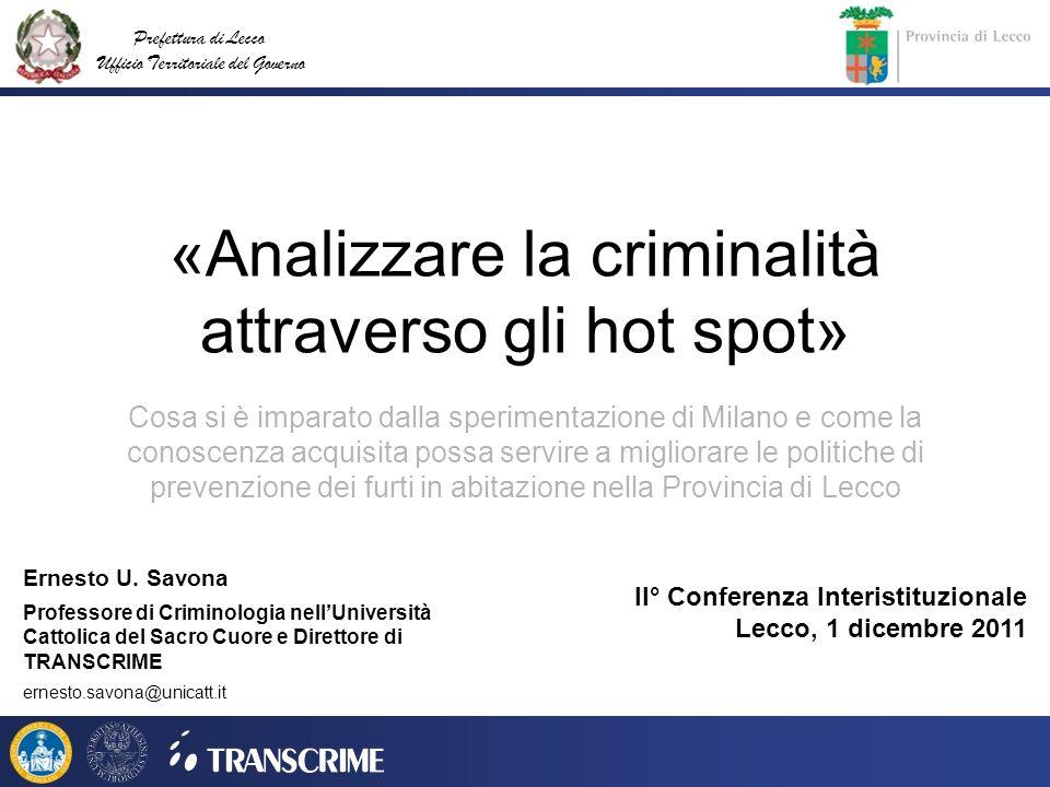 «Analizzare la criminalità attraverso gli hot spot»