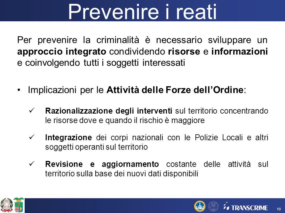 Prevenire i reati