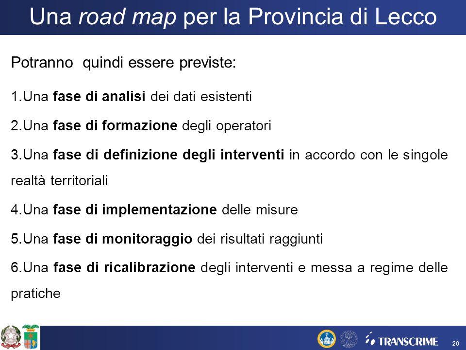 Una road map per la Provincia di Lecco