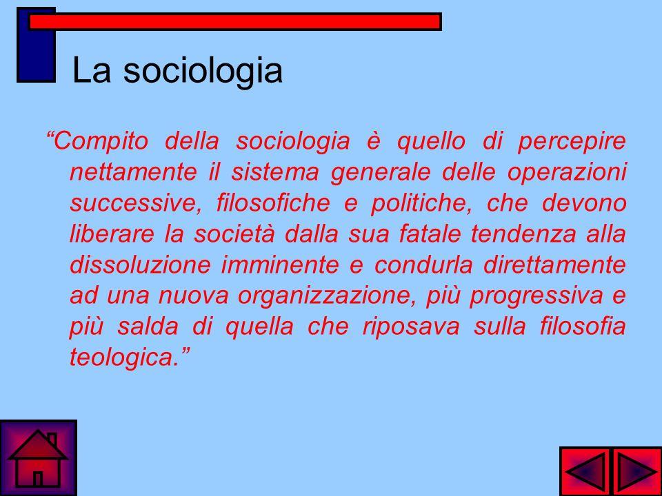 La sociologia