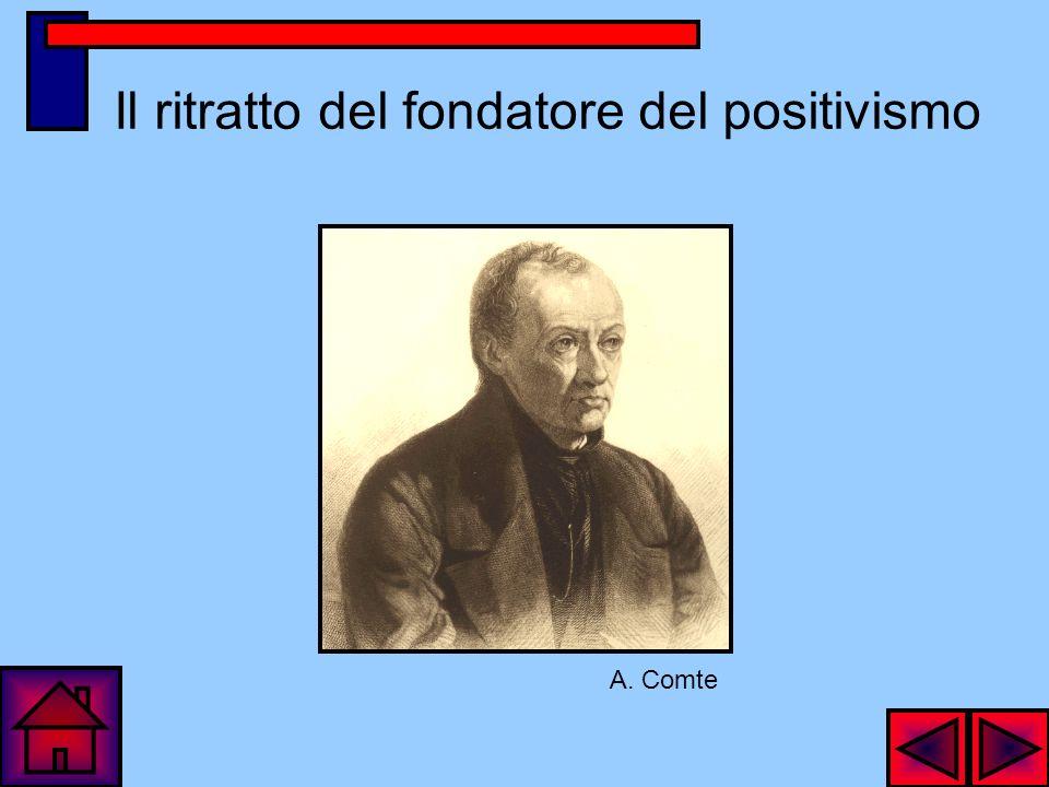 Il ritratto del fondatore del positivismo