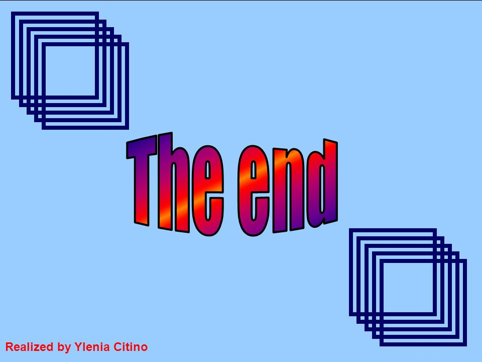 The end Realized by Ylenia Citino