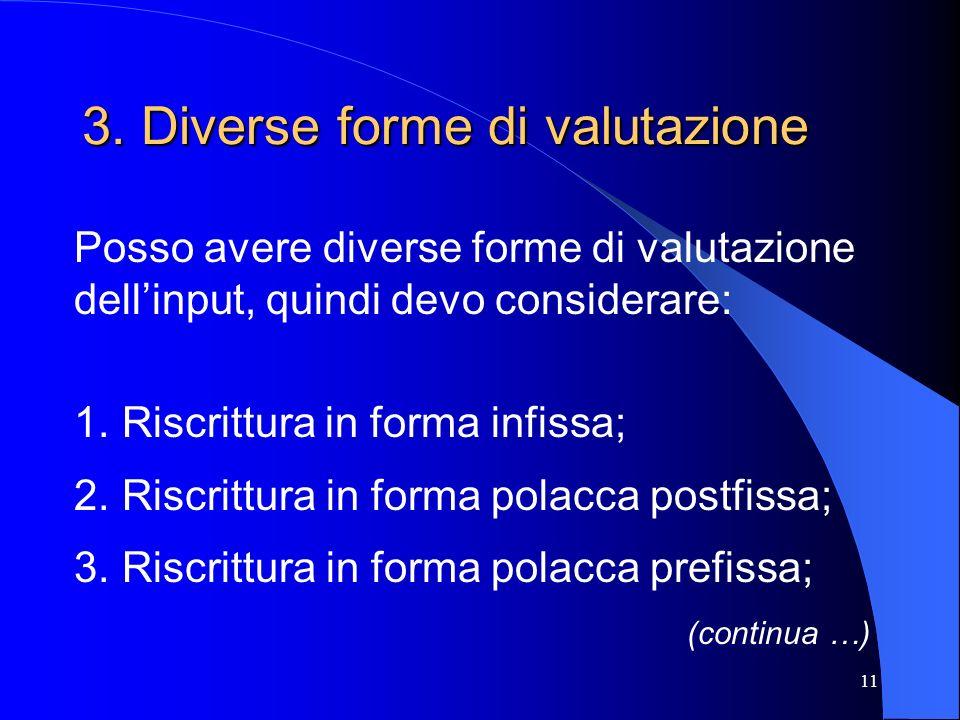3. Diverse forme di valutazione