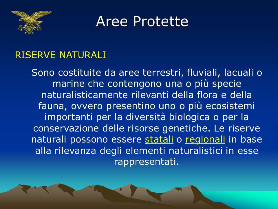 Aree Protette RISERVE NATURALI