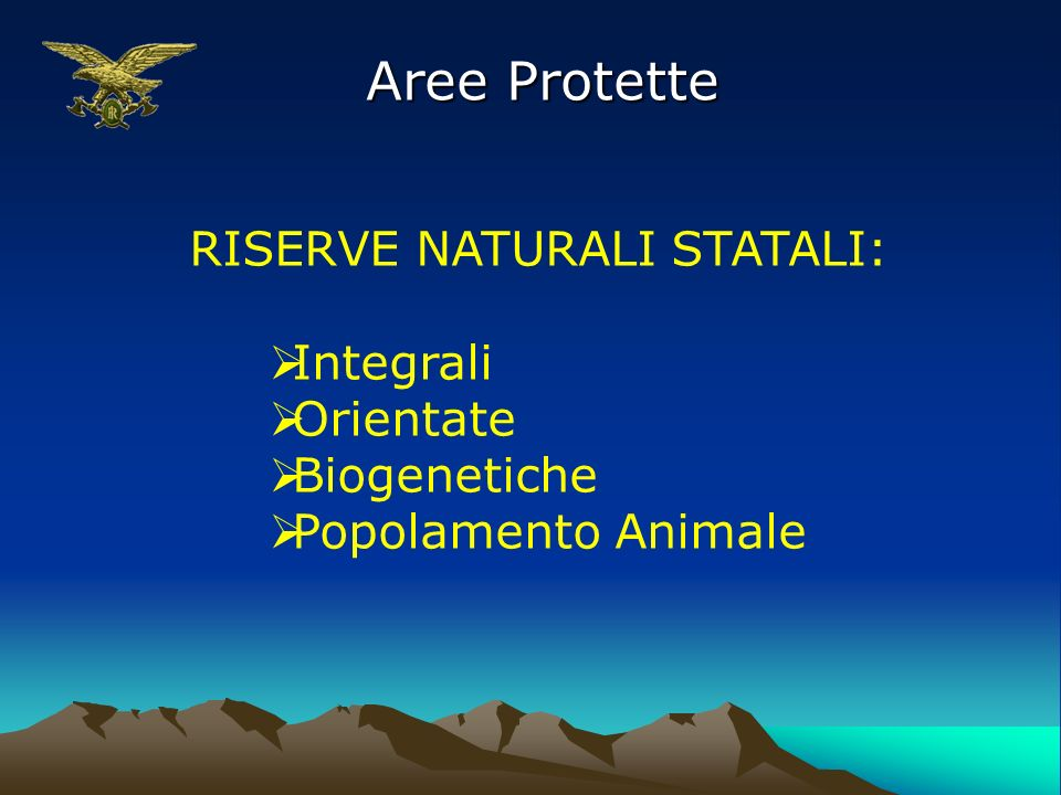 RISERVE NATURALI STATALI: