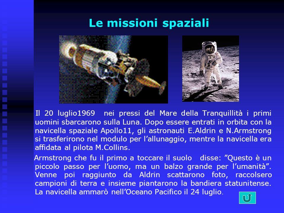 Le missioni spaziali