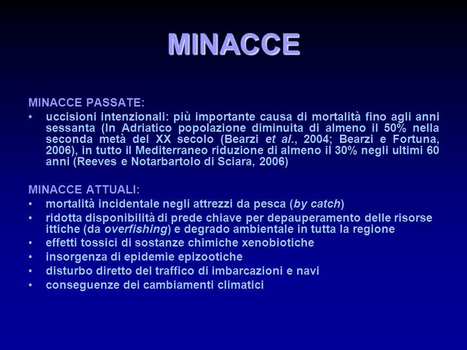 MINACCE MINACCE PASSATE: