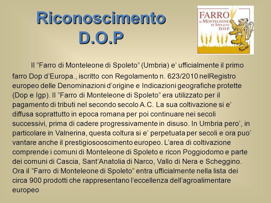 Riconoscimento D.O.P.