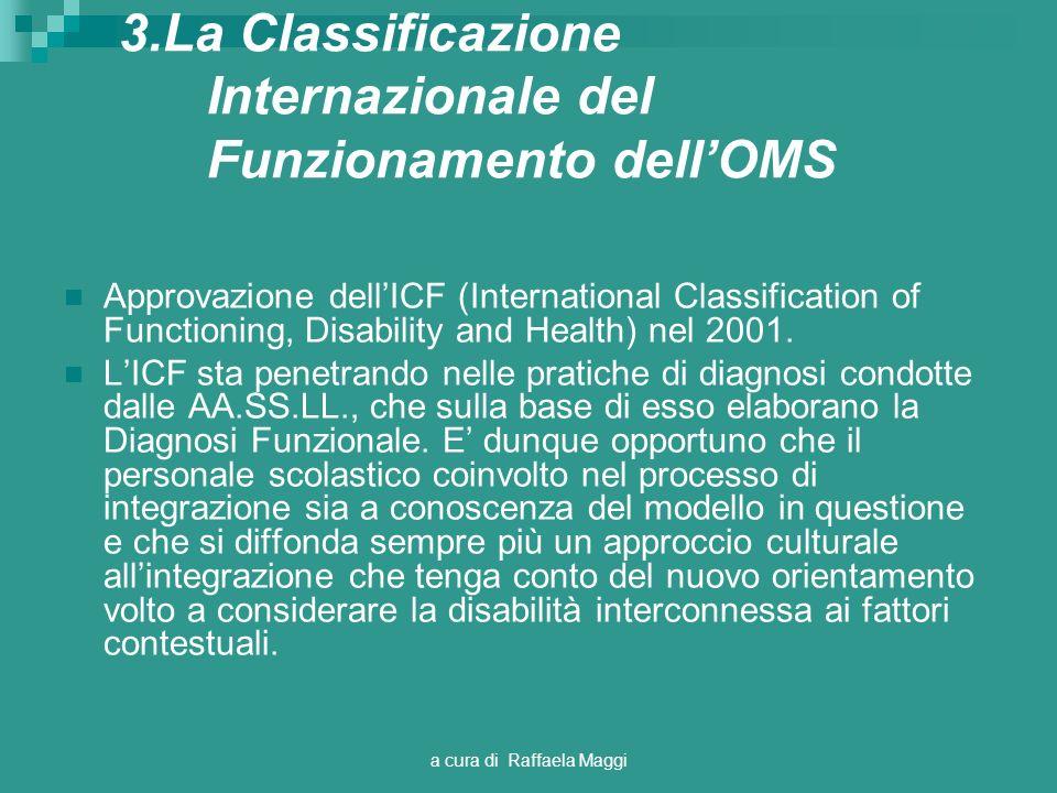 3.La Classificazione Internazionale del Funzionamento dell'OMS