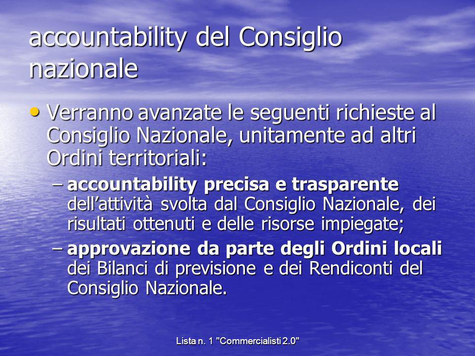 accountability del Consiglio nazionale
