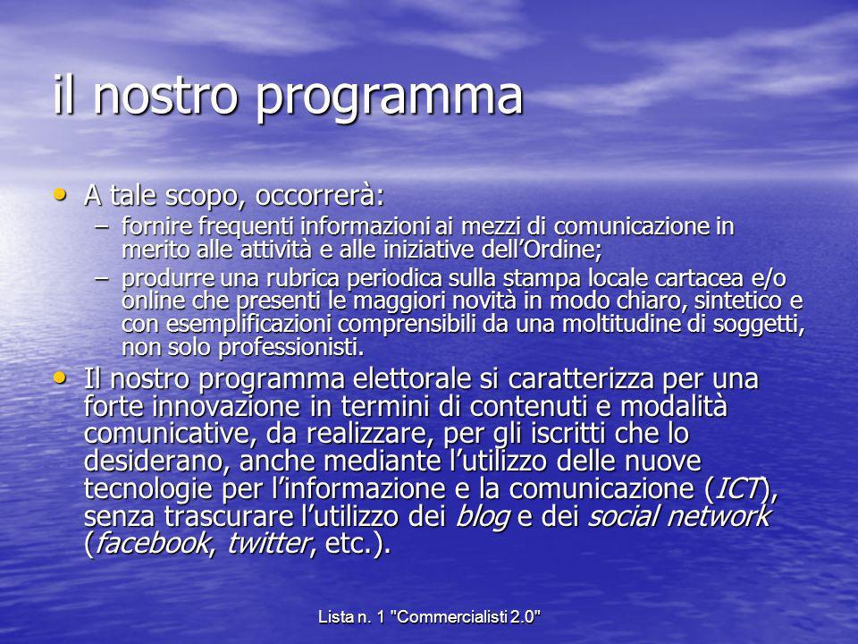 Lista n. 1 Commercialisti 2.0