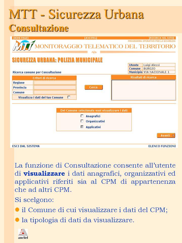 MTT - Sicurezza Urbana Consultazione
