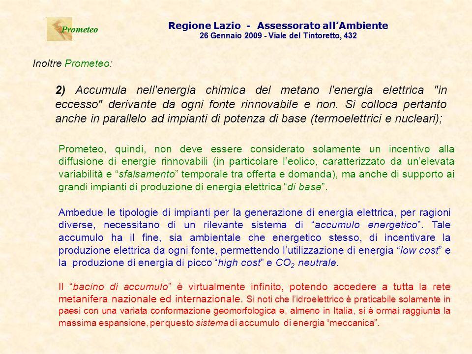 .Prometeo Regione Lazio - Assessorato all'Ambiente. 26 Gennaio 2009 - Viale del Tintoretto, 432.