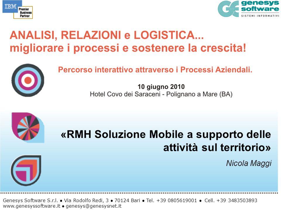 «RMH Soluzione Mobile a supporto delle attività sul territorio»