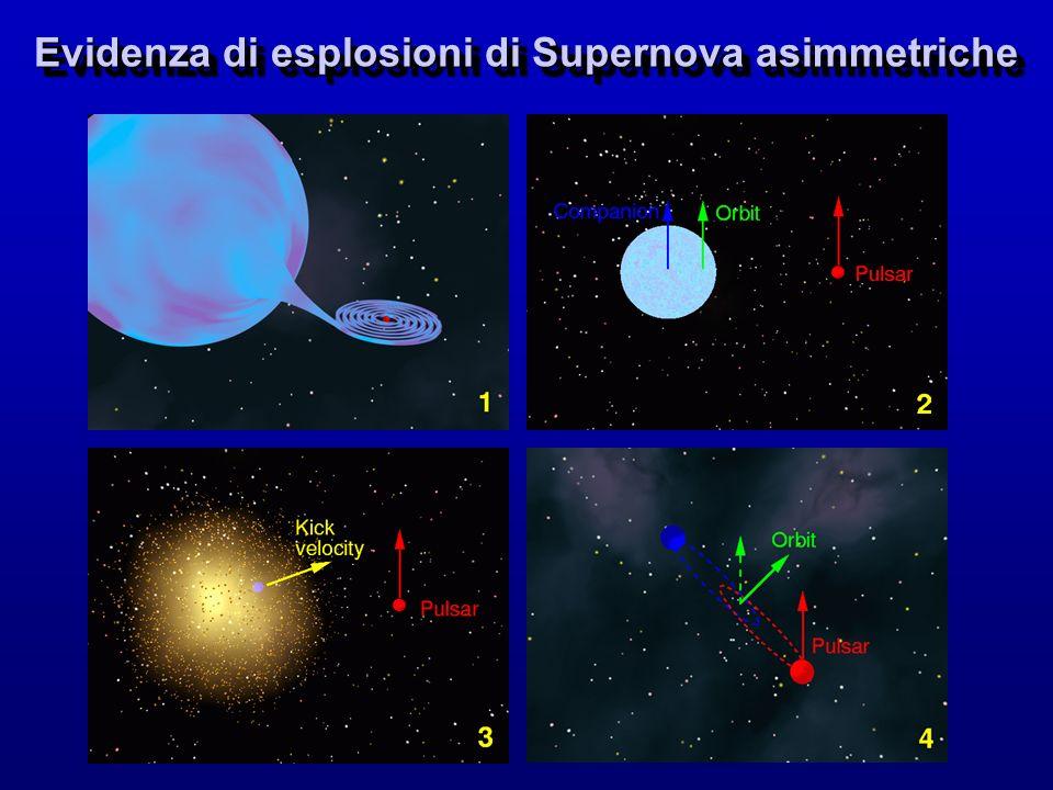 Evidenza di esplosioni di Supernova asimmetriche