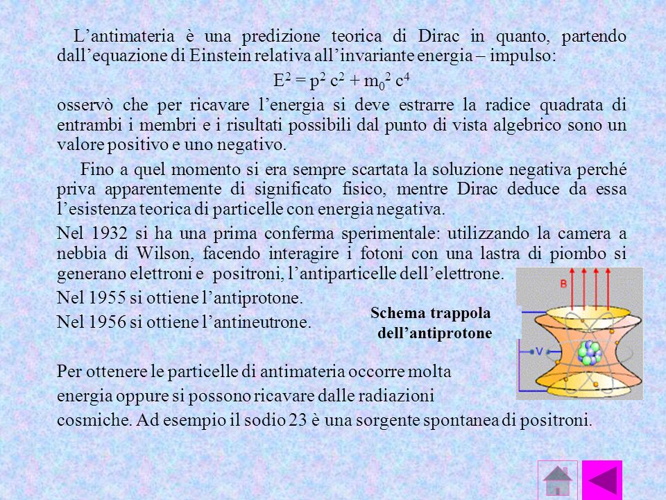 Nel 1955 si ottiene l'antiprotone. Nel 1956 si ottiene l'antineutrone.
