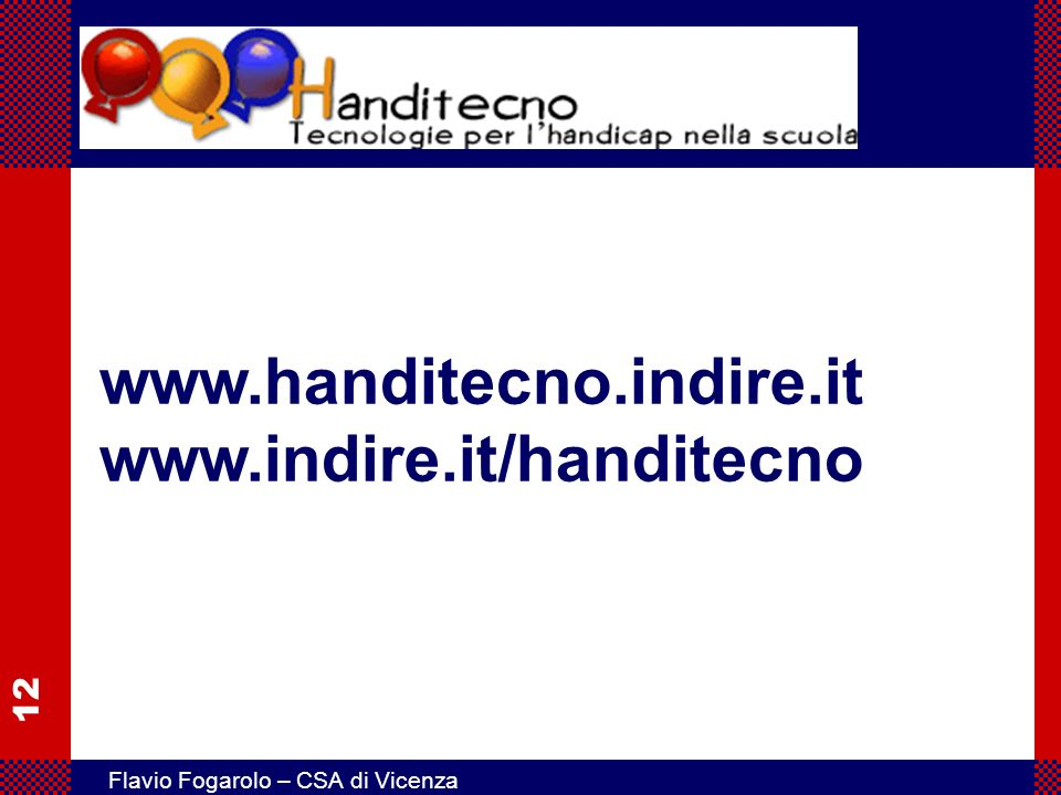www.handitecno.indire.it www.indire.it/handitecno