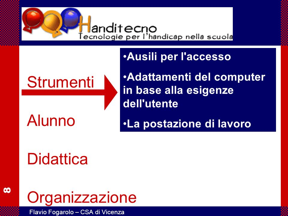 Strumenti Alunno Didattica Organizzazione
