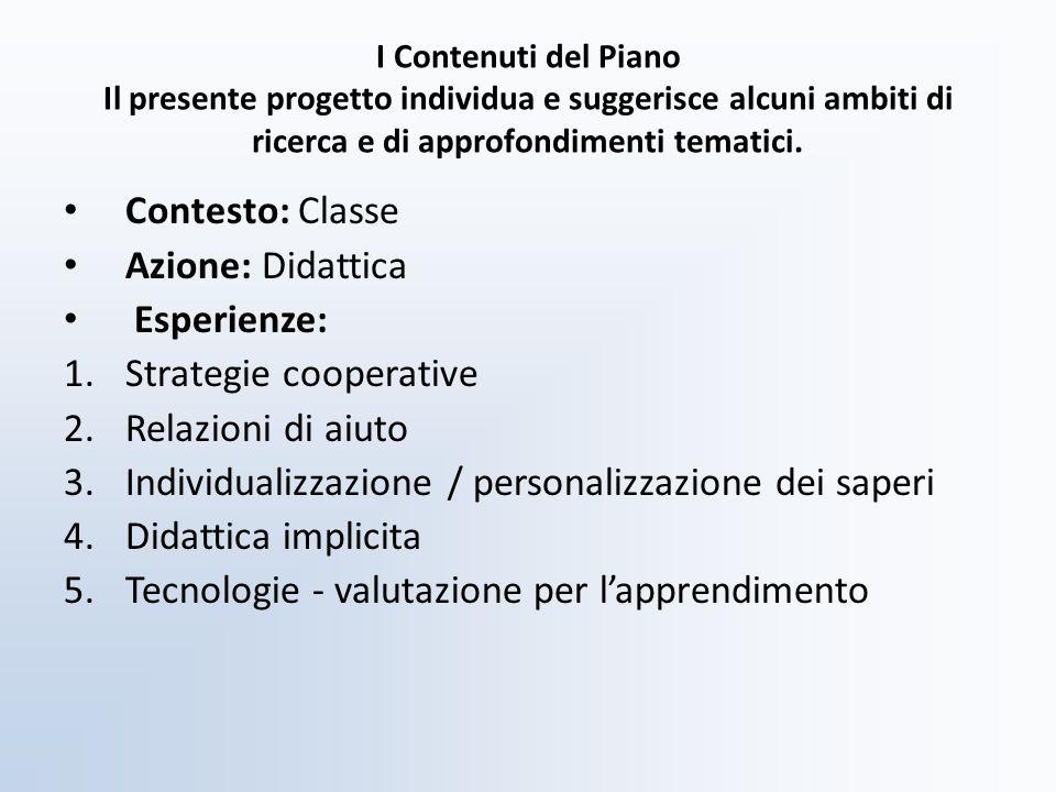 Strategie cooperative Relazioni di aiuto