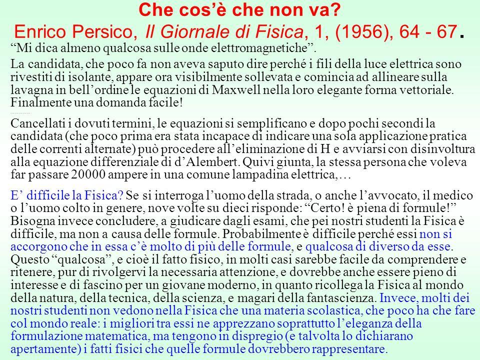 Che cos'è che non va Enrico Persico, Il Giornale di Fisica, 1, (1956), 64 - 67.