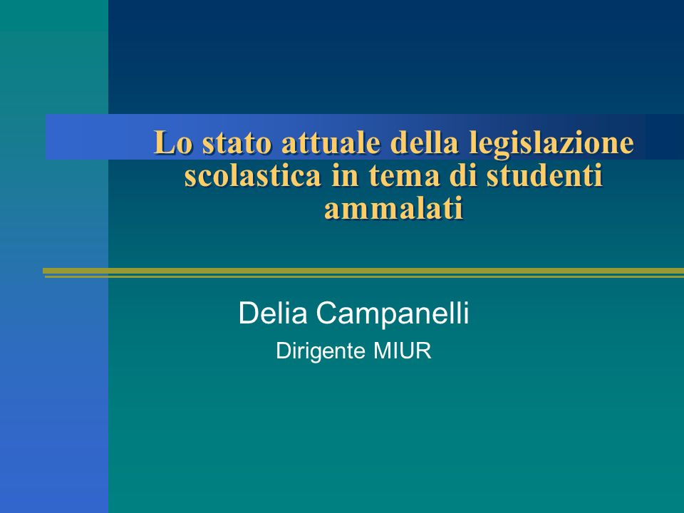 Delia Campanelli Dirigente MIUR