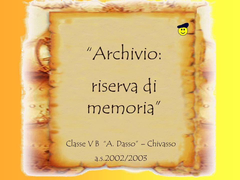 Classe V B A. Dasso – Chivasso