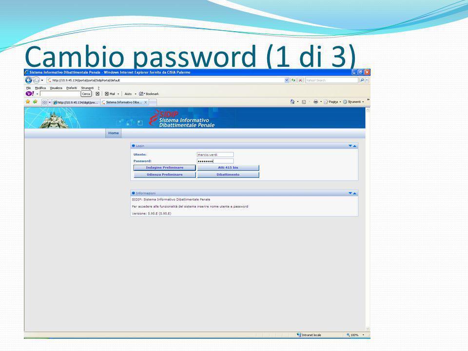 Cambio password (1 di 3)