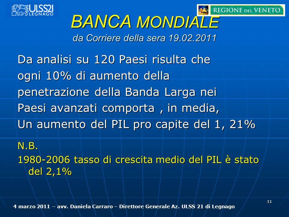 BANCA MONDIALE da Corriere della sera 19.02.2011