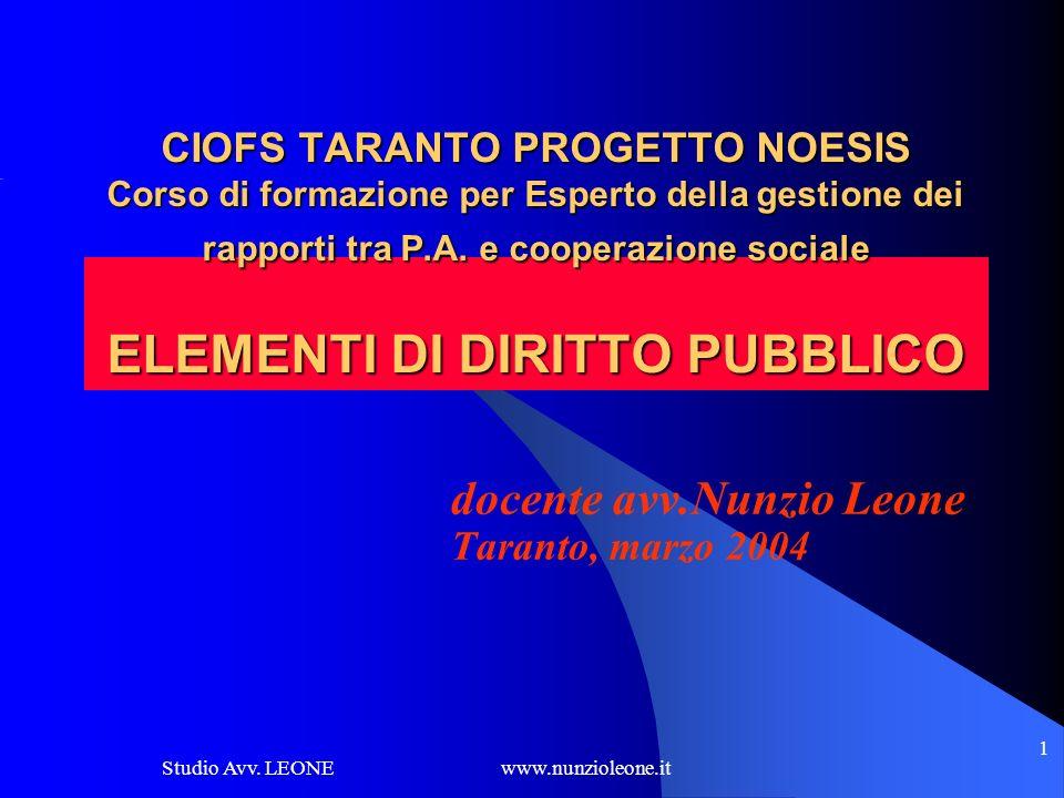 docente avv.Nunzio Leone Taranto, marzo 2004