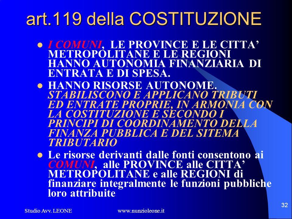 art.119 della COSTITUZIONE