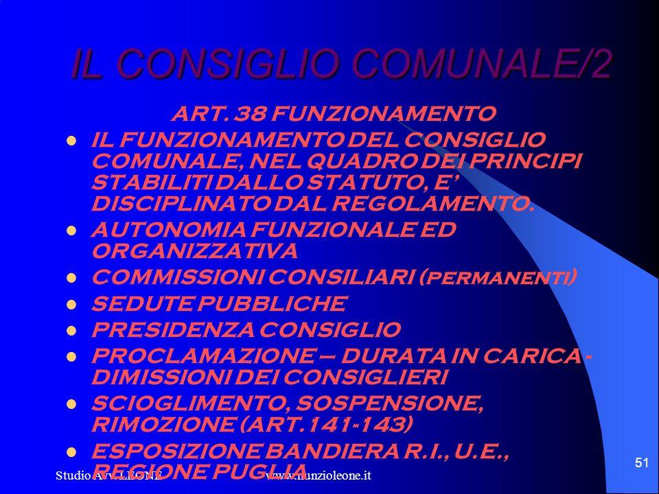 IL CONSIGLIO COMUNALE/2