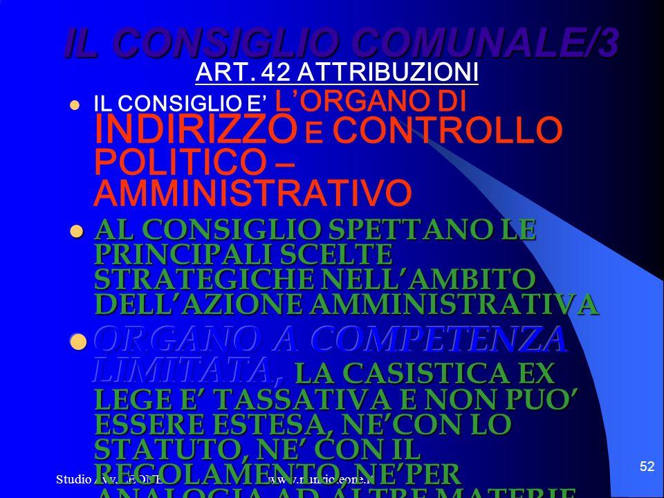 IL CONSIGLIO COMUNALE/3