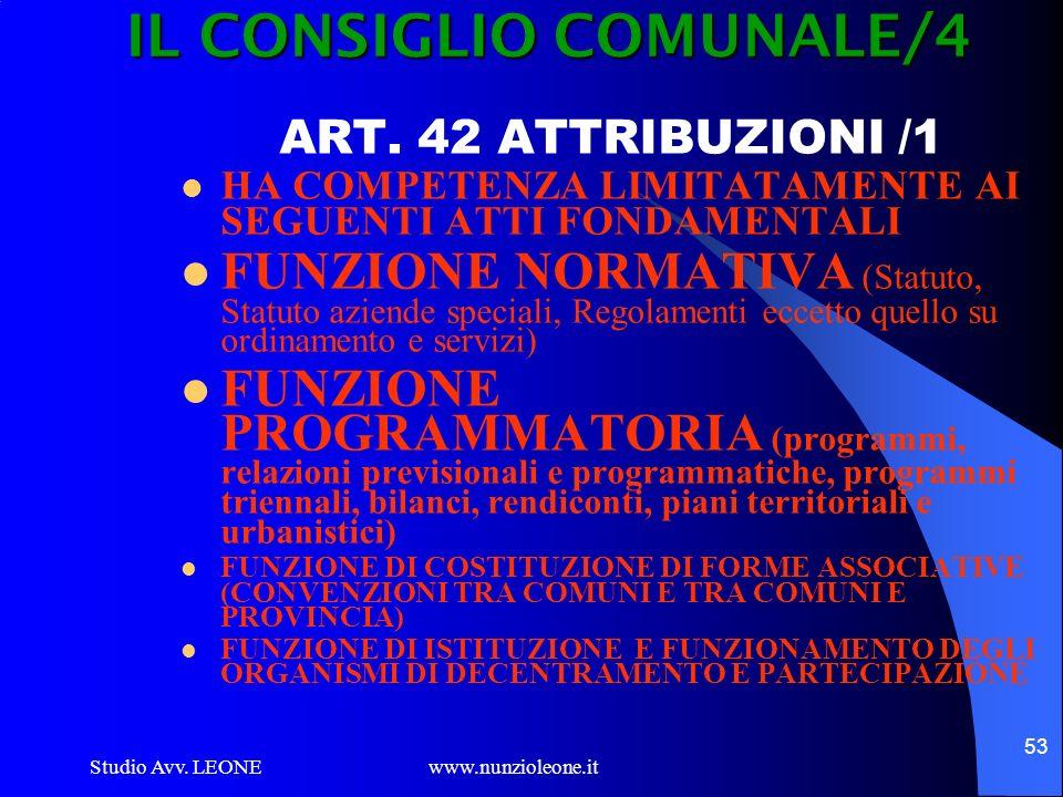IL CONSIGLIO COMUNALE/4