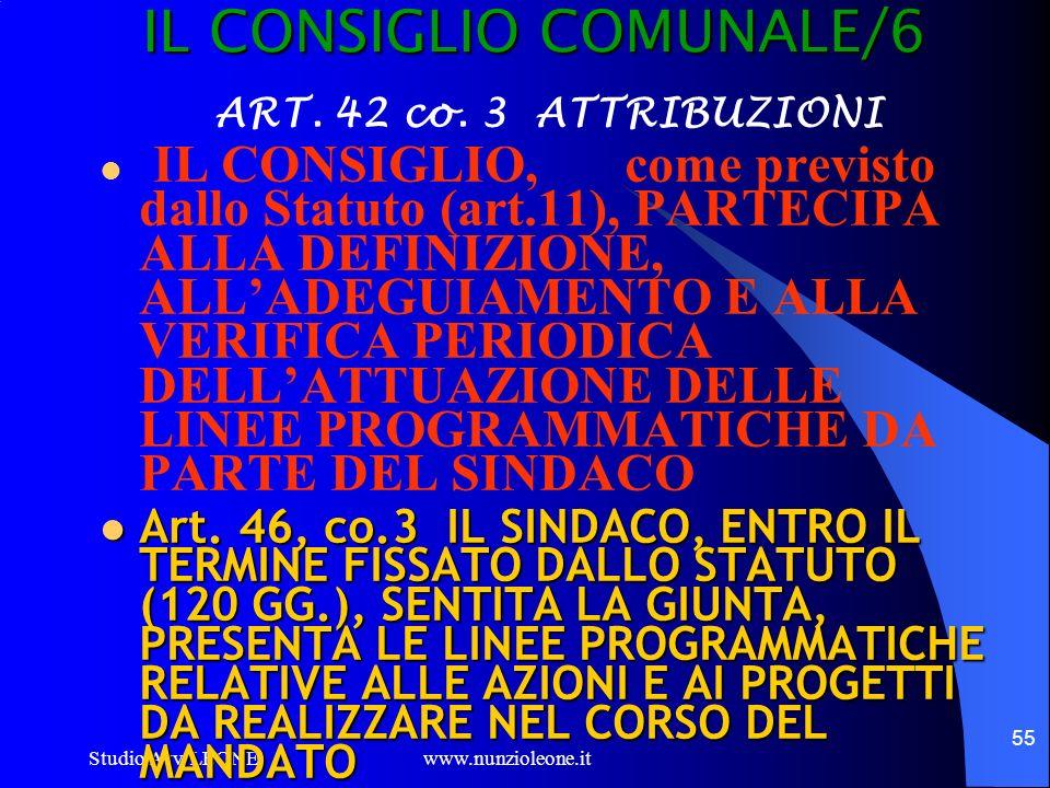 IL CONSIGLIO COMUNALE/6