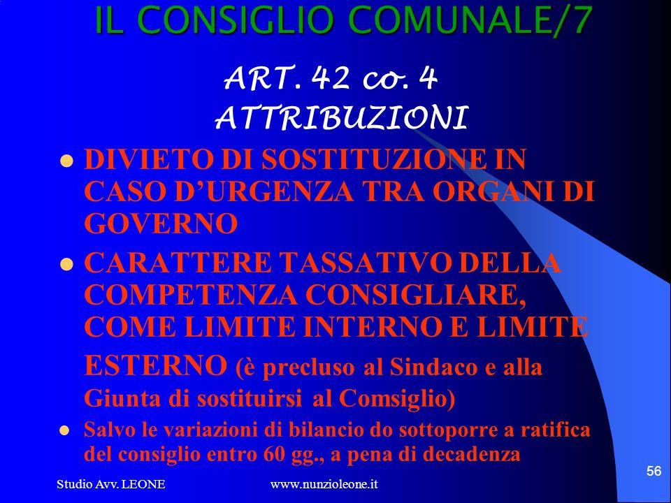 IL CONSIGLIO COMUNALE/7