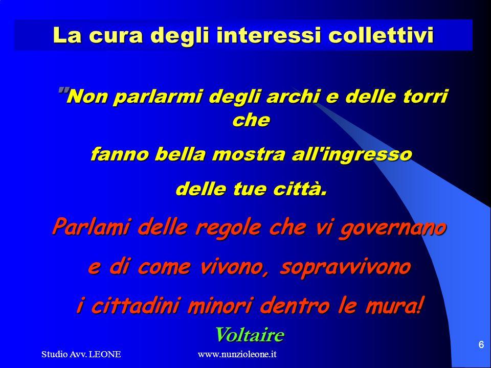 La cura degli interessi collettivi