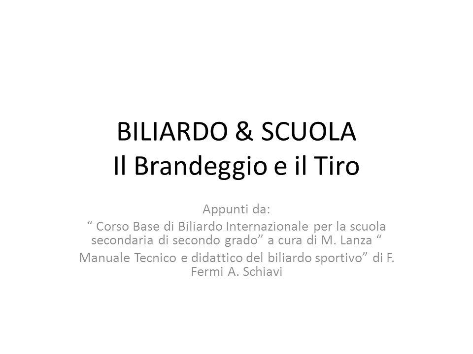 BILIARDO & SCUOLA Il Brandeggio e il Tiro