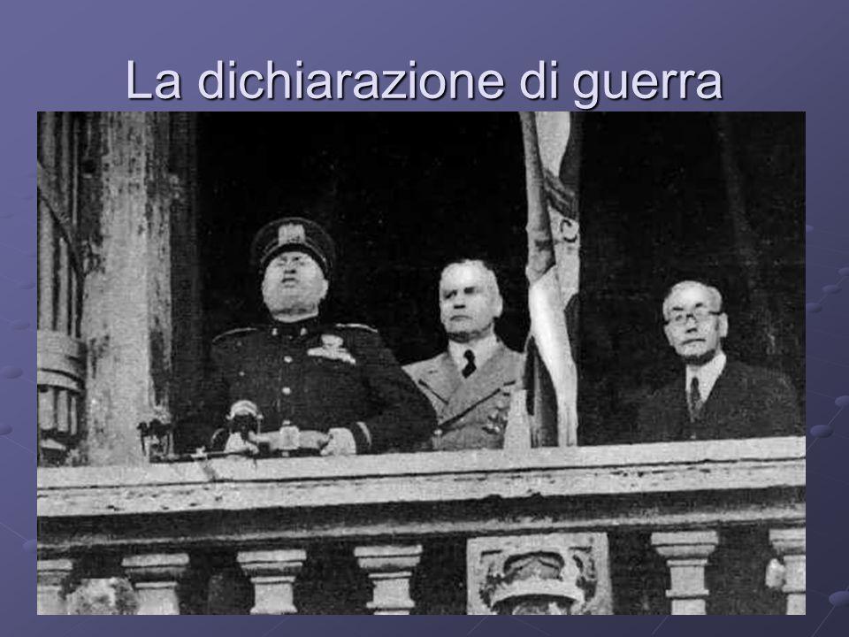 La dichiarazione di guerra