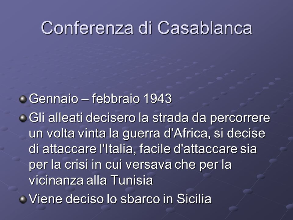 Conferenza di Casablanca