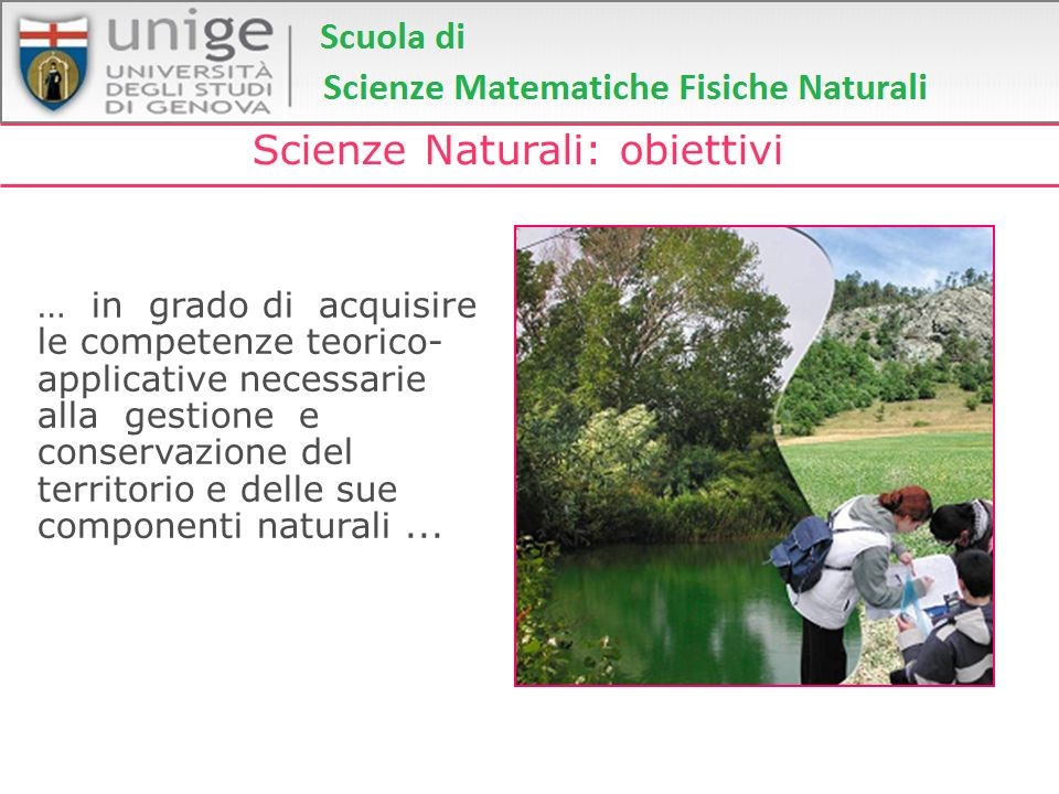 Scienze Naturali: obiettivi