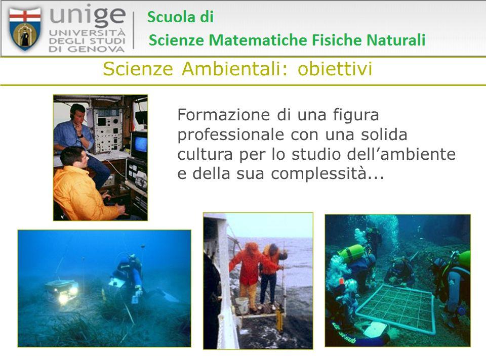 Scienze Ambientali: obiettivi