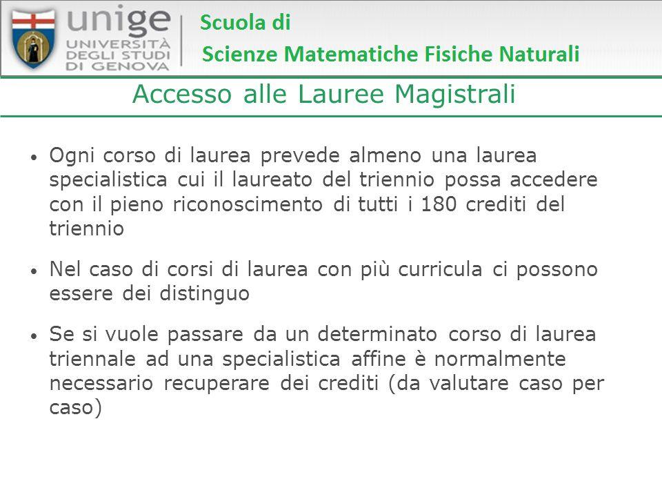 Accesso alle Lauree Magistrali