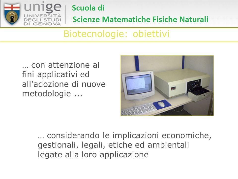 Biotecnologie: obiettivi