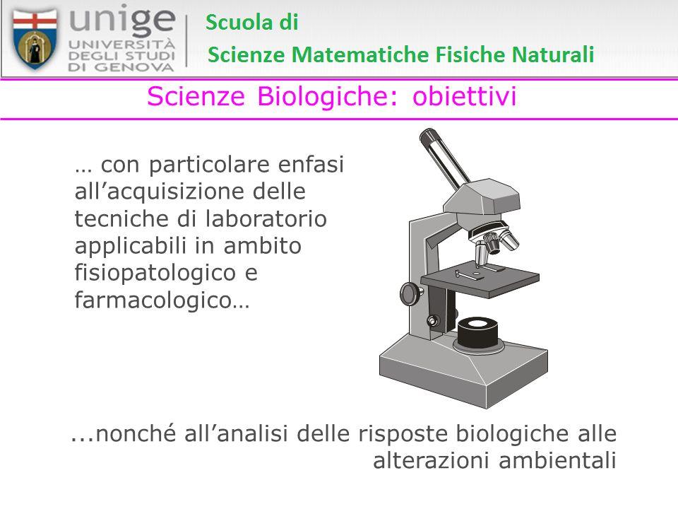 Scienze Biologiche: obiettivi