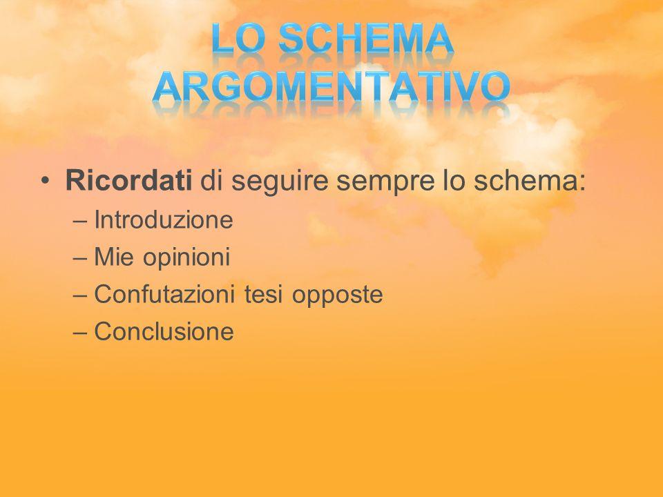Lo schema argomentativo