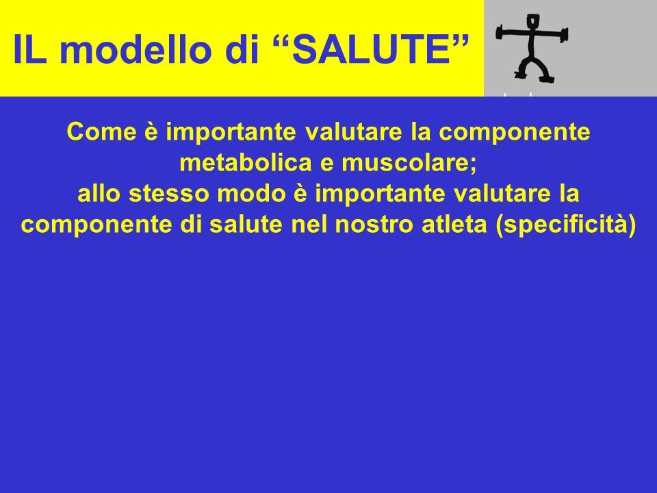 Come è importante valutare la componente metabolica e muscolare;