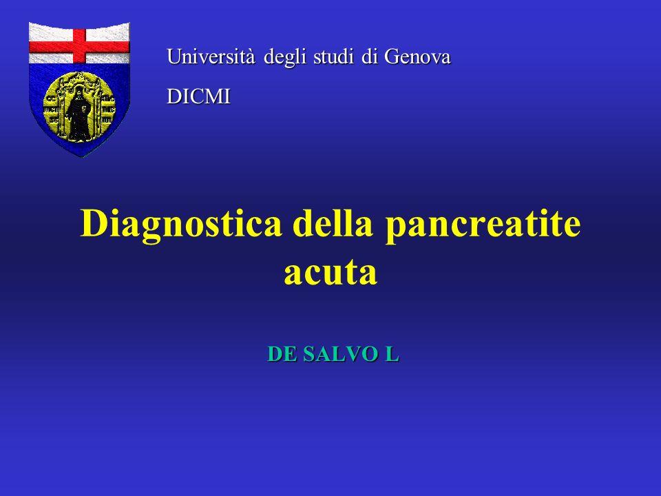 Diagnostica della pancreatite acuta